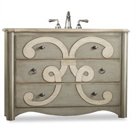 "Cole & Co. 48"" Designer Series Collection Chamberlain Sink Chest - Parchment 11.22.275548.37"