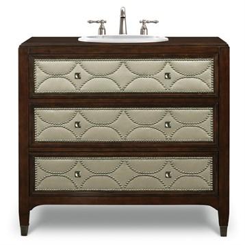 "Cole & Co. 41"" Designer Series Cameron Sink Chest - Medium Chestnut"