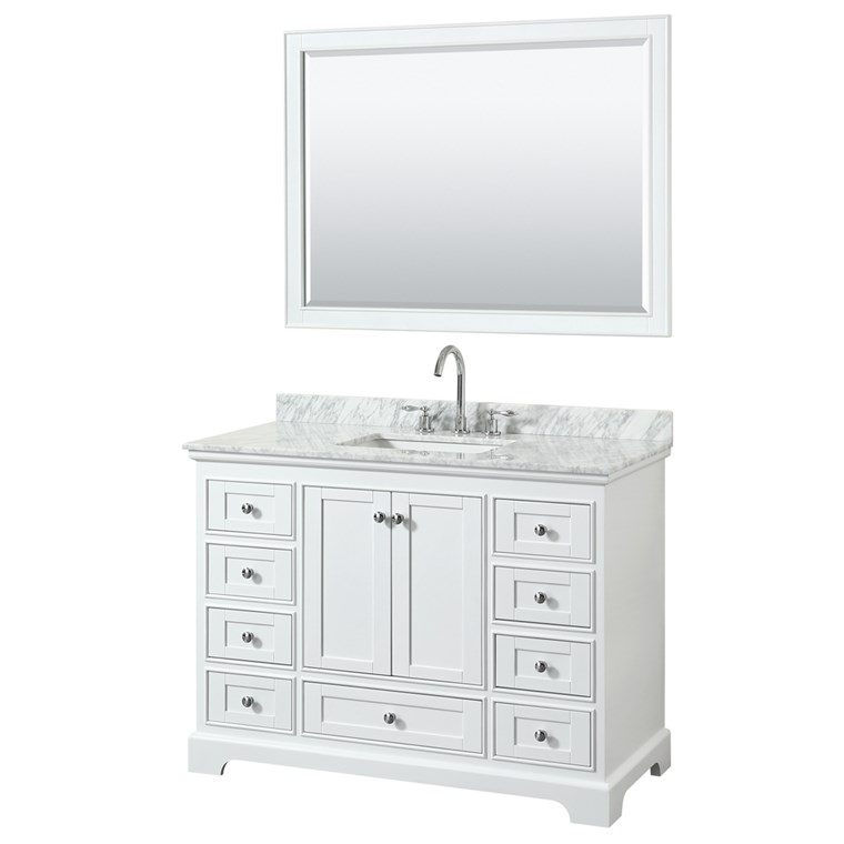 "Deborah 48"" Single Bathroom Vanity by Wyndham Collection - White WC-2020-48-SGL-VAN-WHT"
