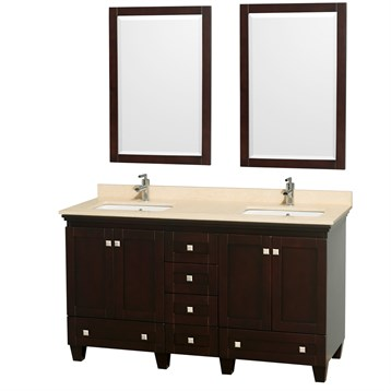 Acclaim 60 in. Double Bathroom Vanity by Wyndham Collection - Espresso