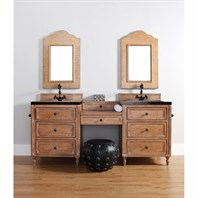 "James Martin 74"" Copper Cove Double 26"" Vanities with Drawer Bridge - Driftwood Patina 300-V26-DRP-x2"