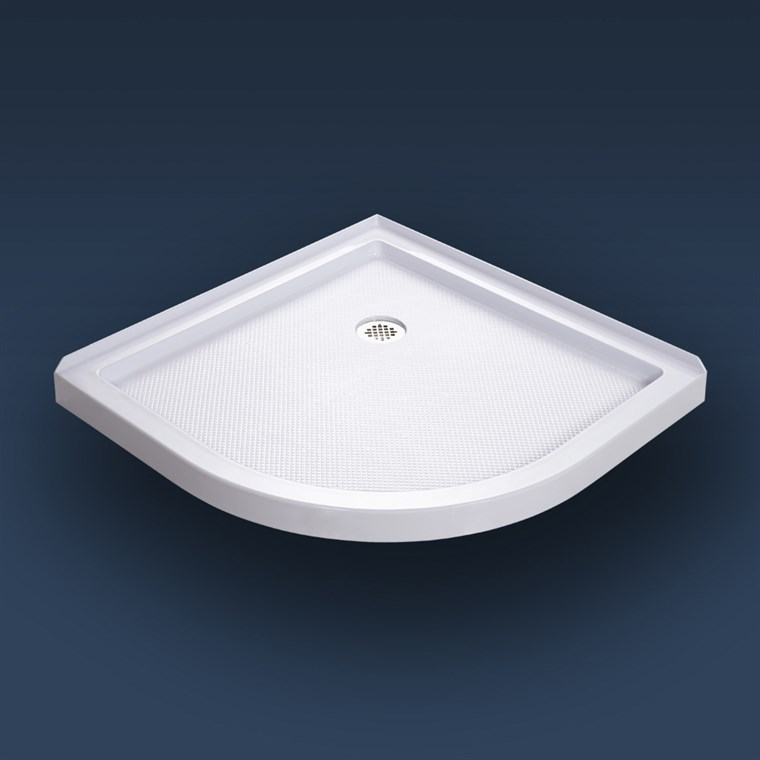 "Bath Authority DreamLine SlimLine Quarter Round Shower Base (33"" by 33"") - White DLT-7033330"
