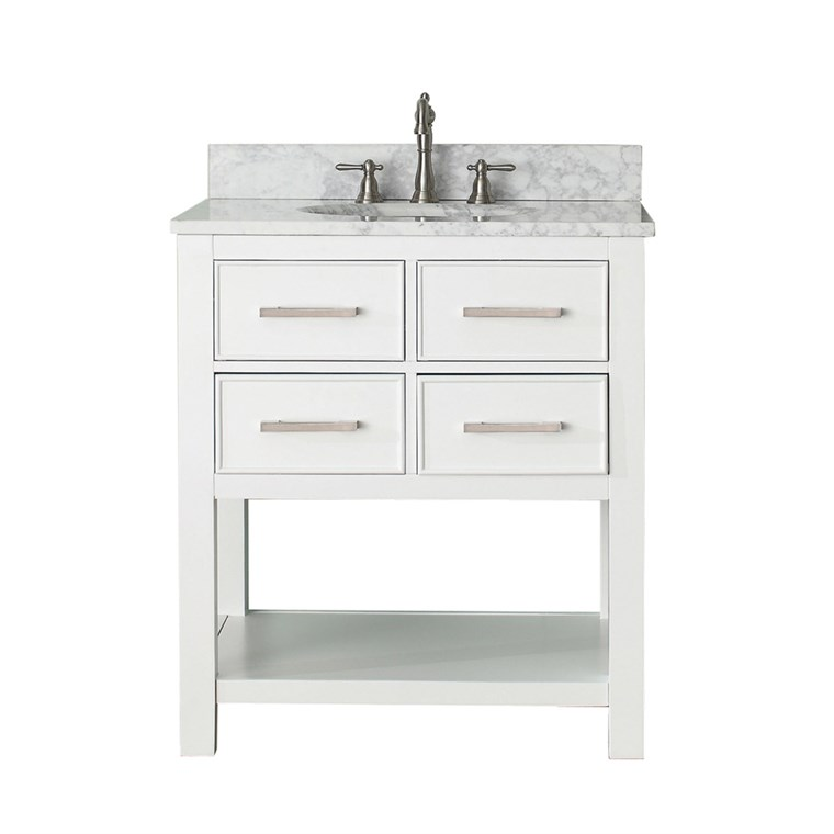 "Avanity Brooks 30"" Single Bathroom Vanity with Countertop - White BROOKS-30-WT"