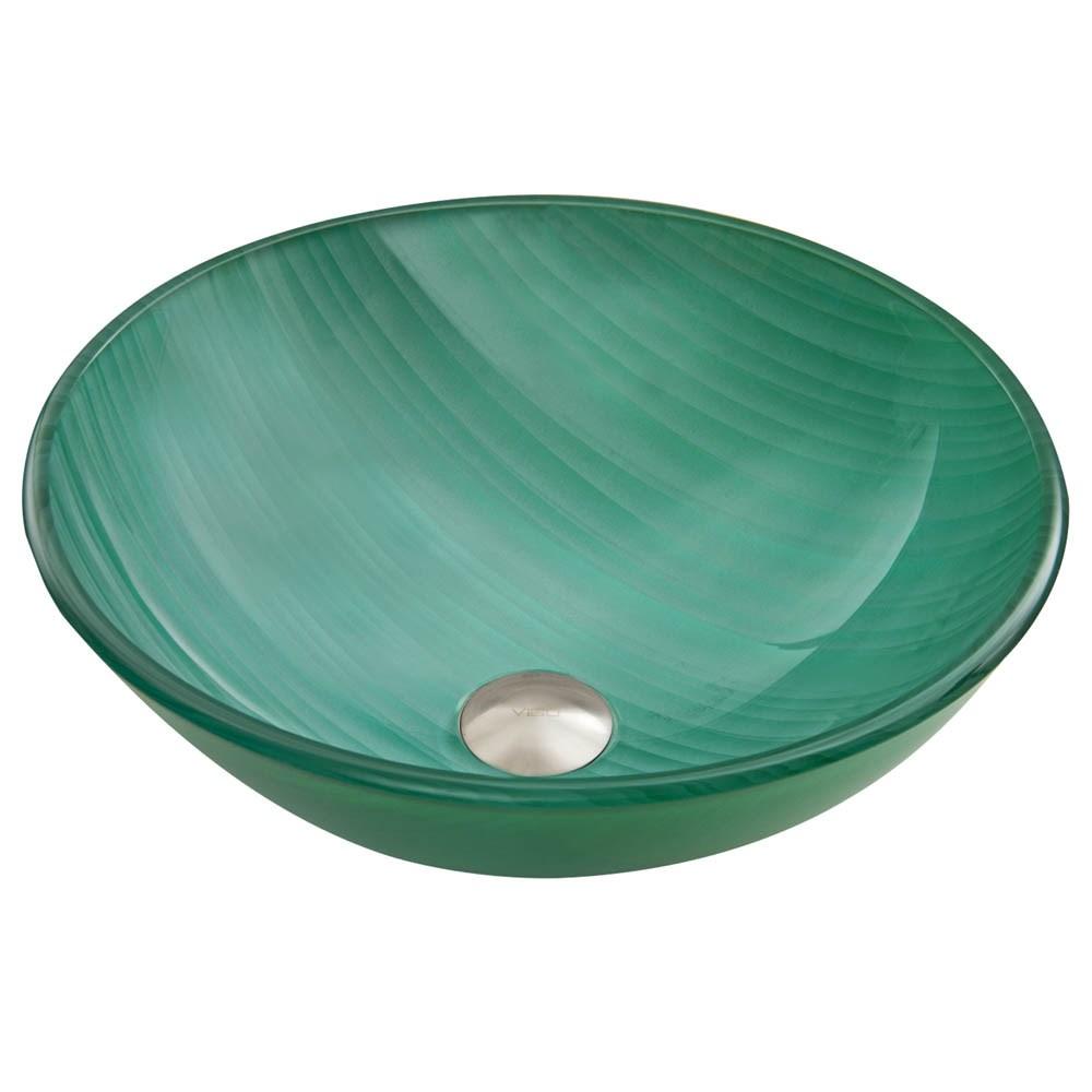 VIGO Whispering Wind Glass Vessel Sinknohtin