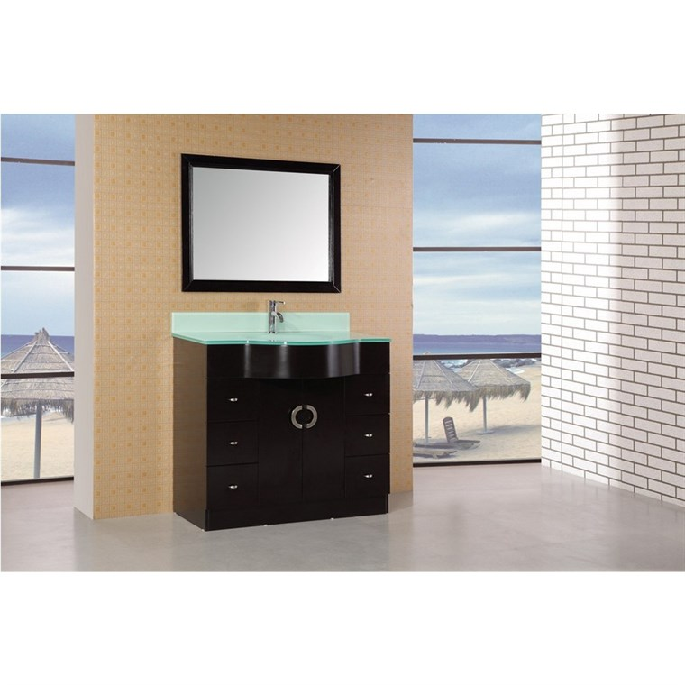 "Design Element Aria 40"" Modern Bathroom Vanity - Espresso DEC061"