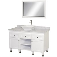 "Premiere 48"" Bathroom Vanity Set by Wyndham Collection - White WC-CG5000-48-WHT"
