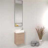 Fresca Pulito Small Light Oak Modern Bathroom Vanity with Tall Mirror FVN8002LO