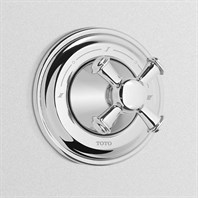 TOTO Vivian Three-Way Diverter Trim with Off - Cross Handle TS220X