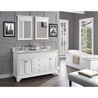 "Fairmont Designs Framingham 60"" Double Bowl Vanity - Polar White 1502-V6021D"