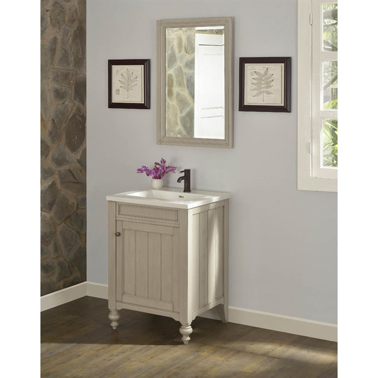 "Fairmont Designs Crosswinds 24"" Vanity for Integrated Top - Slate Gray 1524-V24-"