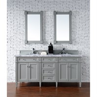"James Martin 72"" Brittany Double Cabinet Vanity - Urban Gray 650-V72-UGR"