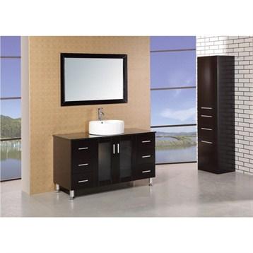 Design element seabright 48 single sink modern bathroom for Design element marcos solid wood double sink bathroom vanity