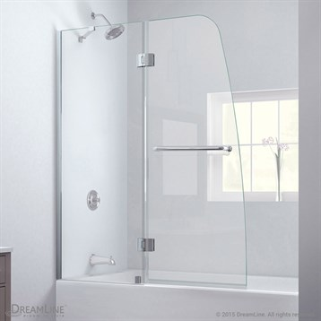 Bath Authority DreamLine Aqua Clear Glass Tub Door | Free Shipping ...