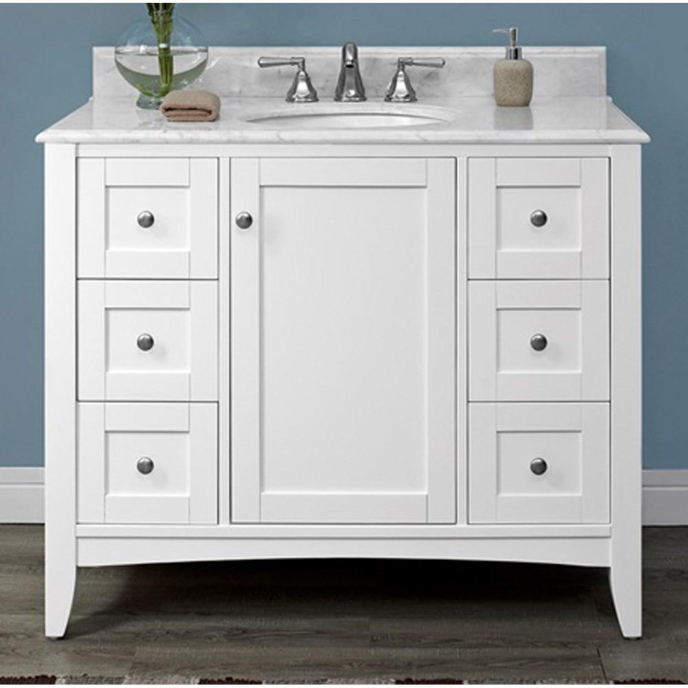 "Fairmont Designs Shaker Americana 42"" Vanity - Polar Whitenohtin Sale $1375.00 SKU: 1512-V42_ :"