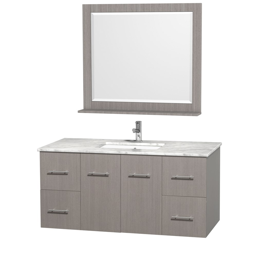 Centra 48 Single Bathroom Vanity For Undermount Sinks By Wyndham Collection Gray Oak Free Shipping Modern