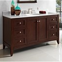 "Fairmont Designs Shaker Americana 60"" Single Bowl Vanity - Habana Cherry 1513-V60"