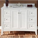 "Fairmont Designs Shaker Americana 48"" Vanity for 1-1/4"" Thick Top - Polar White 1512-V48--"