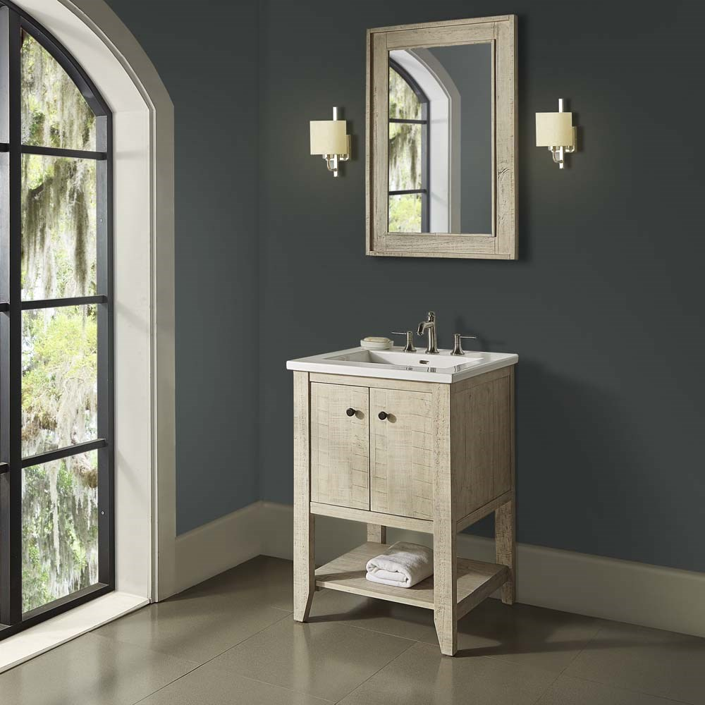 "Fairmont Designs River View 24"" Open Shelf Vanity for Integrated Top - Toasted Almond 1515-VH24-"
