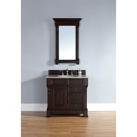 "James Martin 35"" Brookfield Single Vanity with drawers - Burnished Mahogany 147-114-5566"