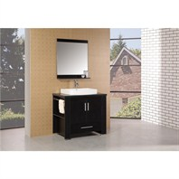 "Design Element Washington 36"" Modern Bathroom Vanity - Espresso DEC083-A"
