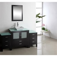 "Virtu USA Brentford 71"" Single Sink Bathroom Vanity - Espresso MS-4471"