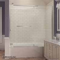 "Bath Authority DreamLine Vitreo-X Framless Pivot Tub Door (58"" to 58-3/4"") SHDR-2158580"