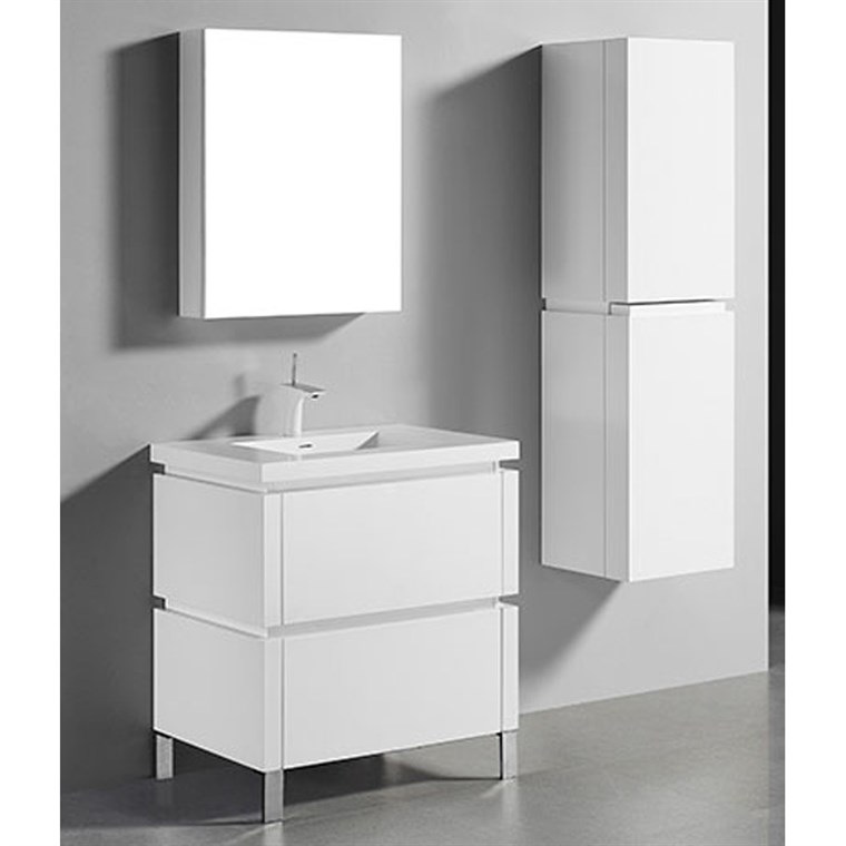 "Madeli Metro 30"" Bathroom Vanity for Integrated Basin - Glossy White B600-30-001-GW"
