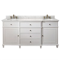 "Avanity Windsor 72"" Vanity Only - White AVA11401-72-WHT-"
