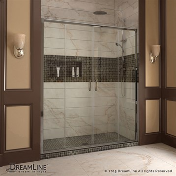 Bath Authority DreamLine Visions 56 to 60 in. Frameless Sliding Shower Door SHDR-1160726 by Bath Authority DreamLine