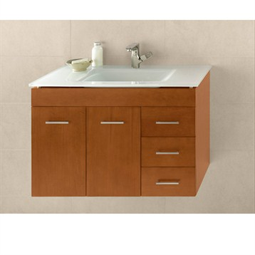 """Ronbow Bella 31"""" Vanity Integrated, Cinnamon Ronbow 011231-L-F08-INTEGRATED by Ronbow"""