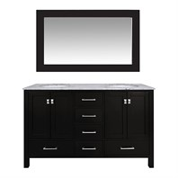 "Stufurhome 72"" Lissa Double Sink Bathroom Vanity - Espresso GM-6412-72-ESP"