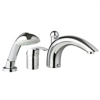 Grohe Eurosmart Roman Tub Filler with Personal Hand Shower - Infinity Brushed Nickel