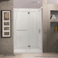 "Bath Authority DreamLine Aqua Frameless Hinged Shower Door (45-1/2"" - 45-7/8"") SHDR-3146720"