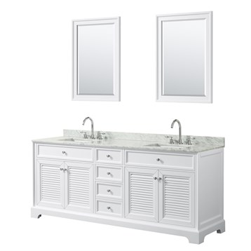 Tamara 80 Double Bathroom Vanity by Wyndham Collection - White