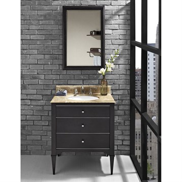 "Fairmont Designs Charlottesville 30"" Vanity for Undermount Oval Sink, Vintage Black 1511-V30_ by Fairmont Designs"