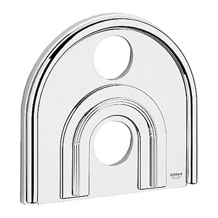 "Grohe Chiara Escutcheon 8-1/2 x 9-1/4"" - Matte Chrome GRO 47463IP0"