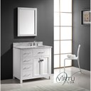 "Virtu USA 36"" Caroline Parkway Single Bathroom Vanity - White MS-2136-"