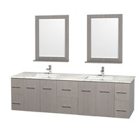 "Centra 80"" Double Bathroom Vanity for Undermount Sinks by Wyndham Collection - Gray Oak WC-WHE009-80-DBL-VAN-GRO-"