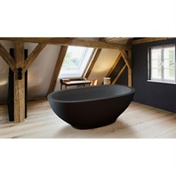 Aquatica Karolina Graphite Black Solid Surface Bathtub - Matte Black Aquatica PS503M-Blck