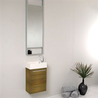 Fresca Pulito Small Zebra Modern Bathroom Vanity with Tall Mirror FVN8002ZB