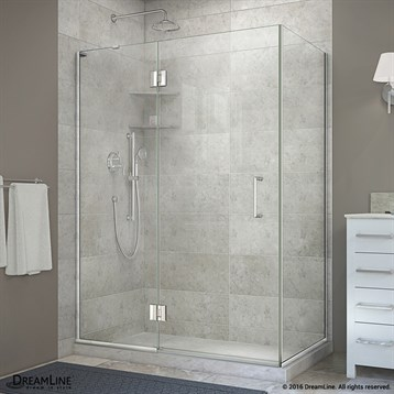 Bath Authority DreamLine UniDoor-X 47, 48 in. W x 30-3/8, 34-3/8 in. D x 72 in. H Hinged Shower Enclosure E32330 by Bath Authority DreamLine