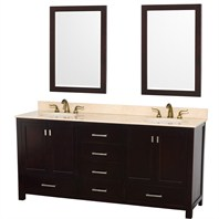 "Abingdon 72"" Double Bathroom Vanity Set by Wyndham Collection - Espresso WC-1515-72-ESP"