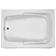 "MTI Basics Integral Skirted Bathtub (60"" x 32"" x 19.25"") - White"