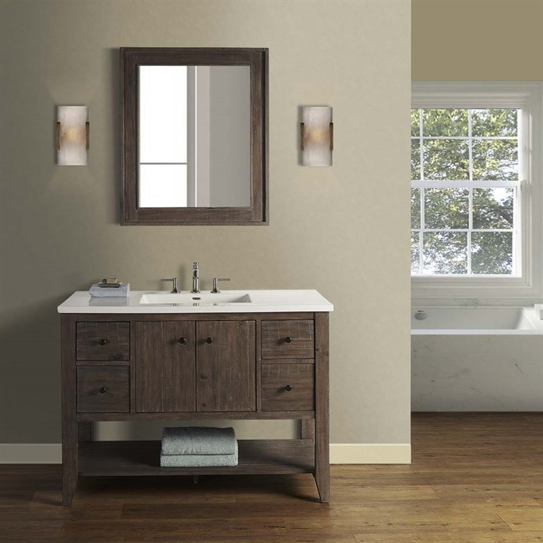 "Fairmont Designs River View 48"" Open Shelf Vanity for Integrated Top - Coffee Bean 1516-VH48-"