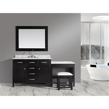 "Design Element London 48"" Bathroom Vanity Set with Make-up Table, Espresso DEC076C_MUT by Design Element"