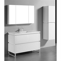 "Madeli Metro 48"" Single Bathroom Vanity for Integrated Basin - Glossy White B600-48C-001-GW"