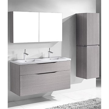 "Madeli Bolano 48"" Double Bathroom Vanity for Integrated Basin, Ash Grey B100-48D-022-AG by Madeli"