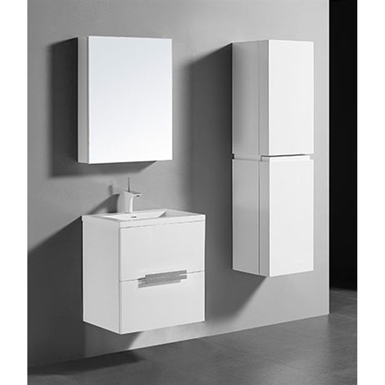 "Madeli Urban 24"" Bathroom Vanity for Integrated Basin - Glossy White B300-24-002-GW"