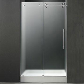 Vigo 60 Inch Frameless Shower Door 38 Frostedchrome Hardware