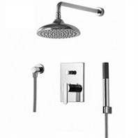 fluid Wisdom Pressure Balancing Shower Set w/ Handheld Trim Package F2841-T